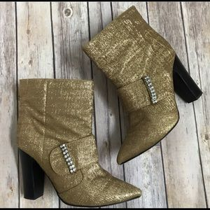 See By Chloe gold boots shoes